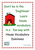 house vocabulary - picture and word matching dominoes game  for EAL beginners