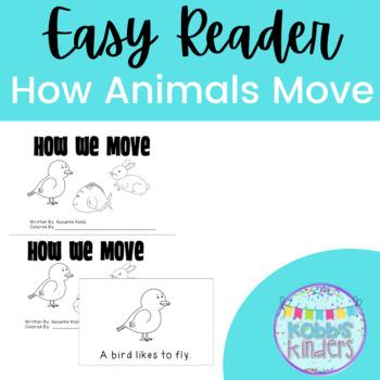 how animals move emergent reader