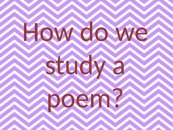 how do we study a poem