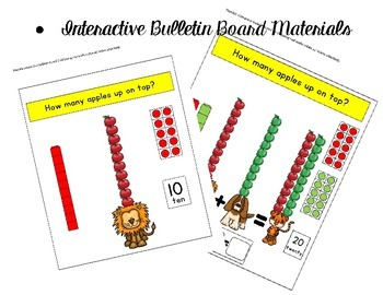 how many apples up on top: interactive bulletin board/recording book
