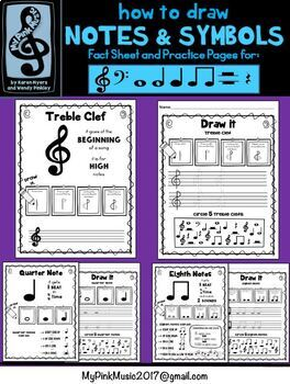 Draw Music Notes Worksheets Teaching Resources Tpt