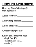 how to apologize