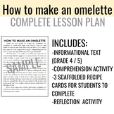 how to make an omelette lesson plan | recipe for life skil