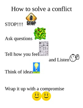 how to solve a conflict poster