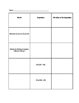 how to use the Order or Operations when solving multi-step equations Lesson Plan