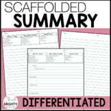 how to write a summary | differentiated / scaffolded