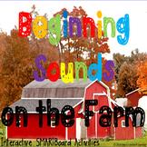 Beginning Sounds Farm Interactive Smart Board Station Self