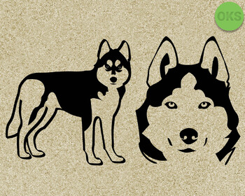 husky SVG cut files, DXF, vector EPS cutting file instant download for cricut