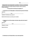 hypothesis and variable practice worksheet