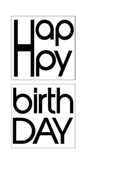 i-Birthdays Poster/Bulletin Board