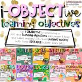 i-OBJECTive EDITABLE Learning Objectives!! {10 Seasonal Se