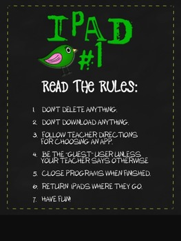 i-Pad Wallpaper with Numbers and Rules