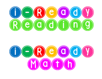 i-Ready Data Wall Titles Reading and Math