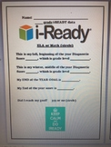 i-Ready Diagnostic Data Tracking Sheet for Data Binders -