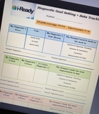 i-Ready Math Diagnostic Goal Setting Sheet grade 3