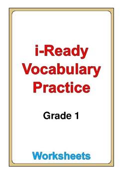 i Ready Vocabulary Grade 1 worksheets