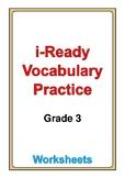 i Ready Vocabulary Grade 3 worksheets