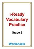 i Ready Vocabulary Grade 2 worksheets