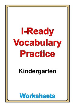 i Ready Vocabulary Kindergarten worksheets