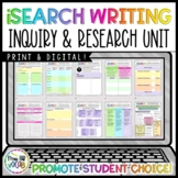 i-Search Writing Unit: Independent Student Choice Research