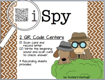 i Spy: Letters and Beginning Sounds QR Codes
