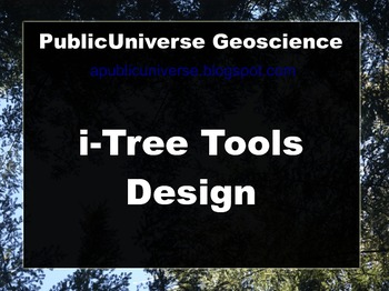 i-Tree Tools Design
