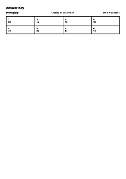 i.	Worksheet for K.CC.1-1.0-Count to 100 by ones