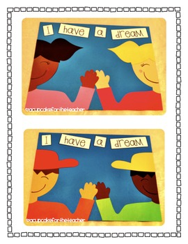 """Martin Luther King, Jr. """"I Have a Dream"""" {Craftivity & Printables}"""
