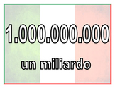 i numeri italiani
