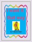 i want it that way- teaching discipline and organization skills