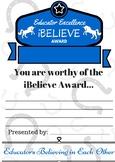 iBelieve Teacher Award