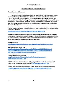 iBook Author PreCalculus Summary Project (Editable)