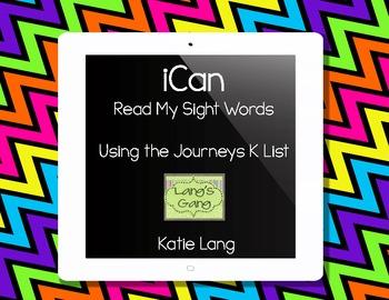 iCan Read My Sight Words-Kindergarten List