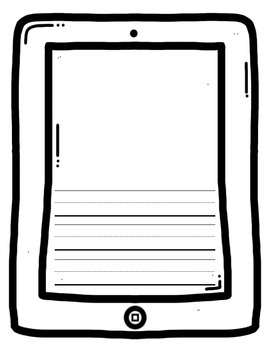 iCan Write: iPod Writing Paper & Writing Prompt