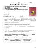 iCell App Worksheet- Intermediate Text