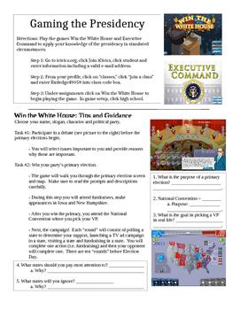 iCivics Presidency Game Sheets