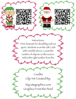 iCount-Christmas A fun Christmas Counting (1-20) Activity w/QR Codes