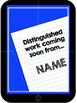 Student Work Display: Editable Bulletin Board