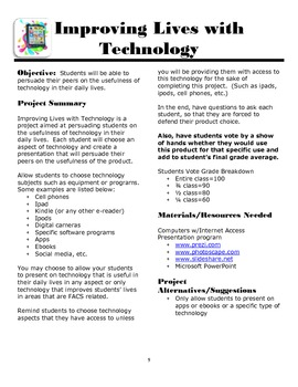 iFACS:  Technology Projects for the FACS Classroom