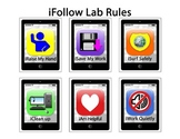 iFollow Lab Rules Smartphone Computer Lab Rules Posters and Bulletin Board