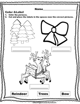 iHeartSpecialEducation Christmas Activity Packet