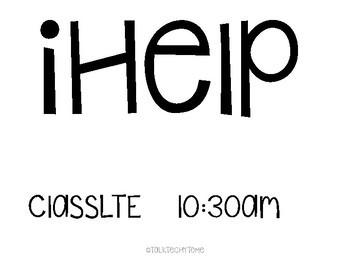 iHelp Job Chart