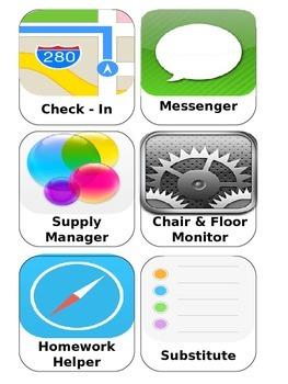 iHelp Classroom Job Chart Labels