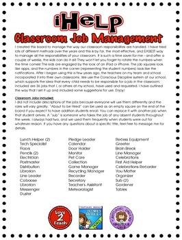 iHelp Classroom Job Management