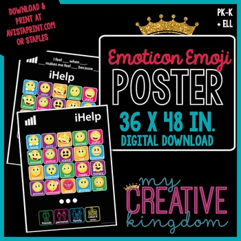 iHelp Emoji Emoticon 36X48 Poster