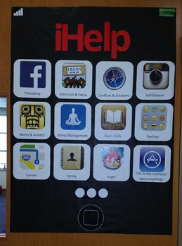 iHelp School Counselor Poster, bulletin board, about, introduction
