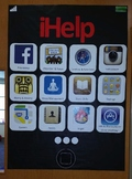 iHelp School Counselor Poster, bulletin board, about, intr