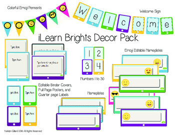 iLearn Brights Technology Decor Pack