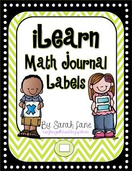 iLearn Math! {Math Journal Labels}