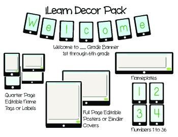 iLearn Technology Themed Decor Pack